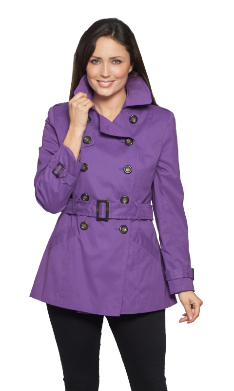 Womens Purple Trench Jacket db402